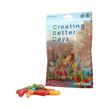 Creating Better Days Nano-CBD Sour Gummy Worms