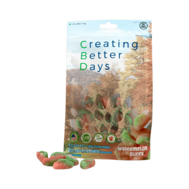 Creating Better Days Nano-CBD Gummies Watermelon Slices